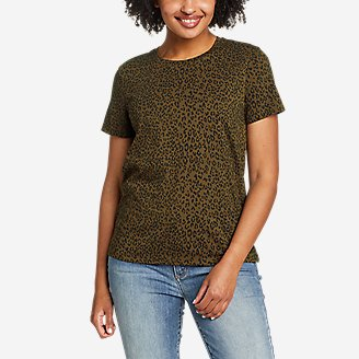 Women's Myriad Short-Sleeve Crew - Print in Green