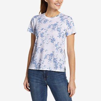 Women's Myriad Short-Sleeve Crew - Print in Blue