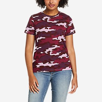 Women's Myriad Short-Sleeve Crew - Print in Purple