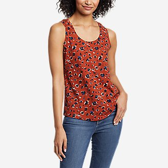Women's Myriad Tank Top - Print in Orange