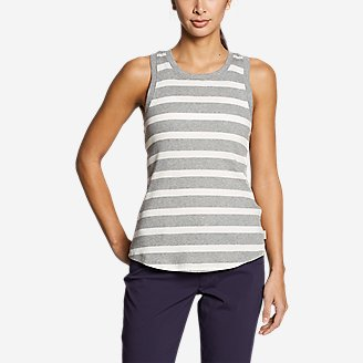 Women's Myriad Rib Racerback Tank Top in Gray