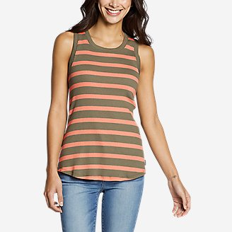 Women's Myriad Rib Racerback Tank Top in Green