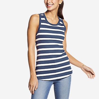 Women's Myriad Rib Racerback Tank Top in Blue