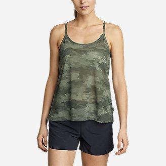 Women's Day Hiker Burnout Tank Top in Green