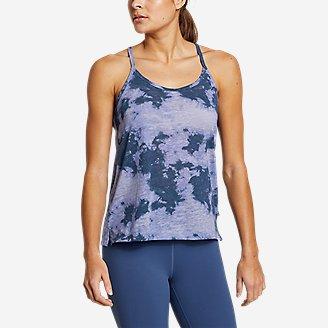 Women's Day Hiker Burnout Tank Top in Blue