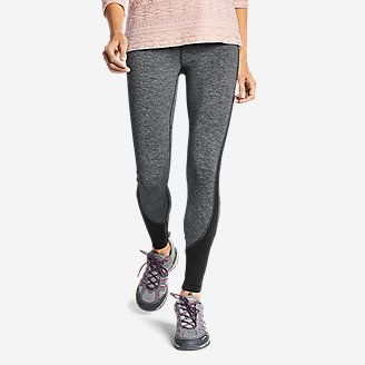 Women's Crossover Fleece High Rise Leggings - Color Block in Black