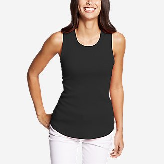 Women's Myriad Rib Racerback Tank Top in Black