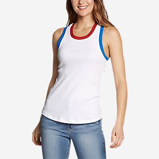 Women's Myriad Rib Racerback Tank Top in White