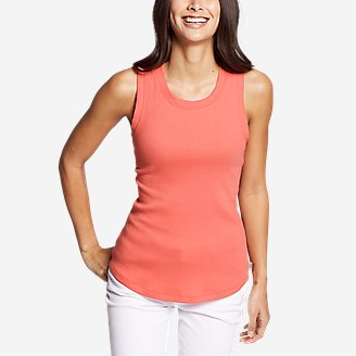 Women's Myriad Rib Racerback Tank Top in Red