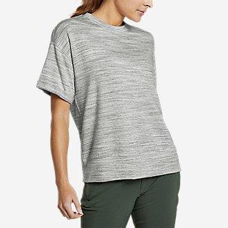 Women's Enliven Short-Sleeve Sweatshirt in White