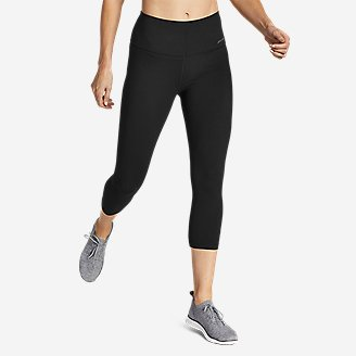 Women's Movement Lux High-Rise Capris in Black