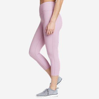 Women's Movement Lux High-Rise Capris in Purple