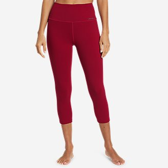 Women's Movement Lux High-Rise Capris in Red