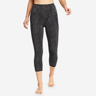 Women's Movement Lux High-Rise Capris - Print in Gray