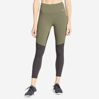 Women's Movement Lux High-Rise 7/8-Length Leggings - Color Blocked in Green