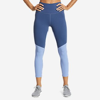 Women's Movement Lux High-Rise 7/8-Length Leggings - Color Blocked in Blue
