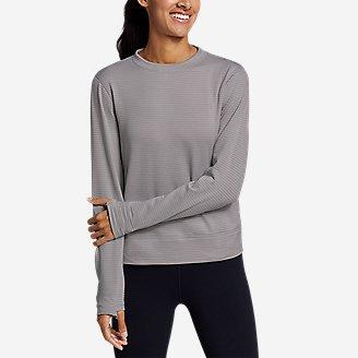 Women's On The Trail Crew Sweatshirt in Gray