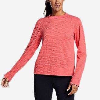 Women's On The Trail Crew Sweatshirt in Red