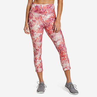Women's Trail Adventure High-Rise Capris - Print in Red