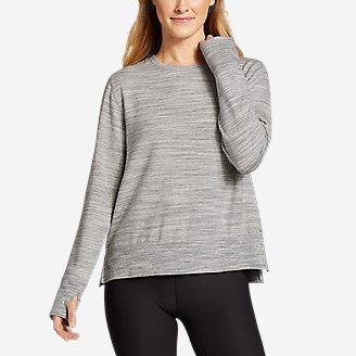 Women's Enliven Step Hem Sweatshirt in White