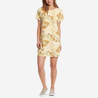 Women's Myriad Short-Sleeve T-Shirt Dress in Yellow