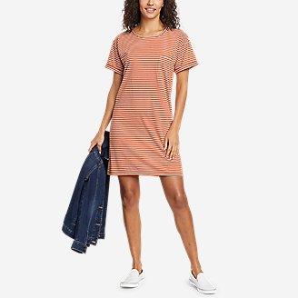 Women's Myriad Short-Sleeve T-Shirt Dress in Orange