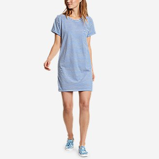 Women's Myriad Short-Sleeve T-Shirt Dress in Blue