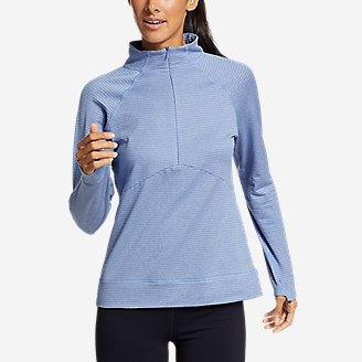 Women's On The Trail Raglan 1/4-Zip in Blue