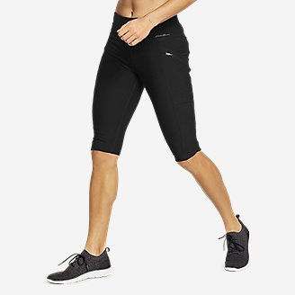 Women's Trail Tight Knee Shorts in Black