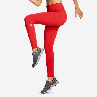 Women's Guide Pro Trail Tight Leggings in Red