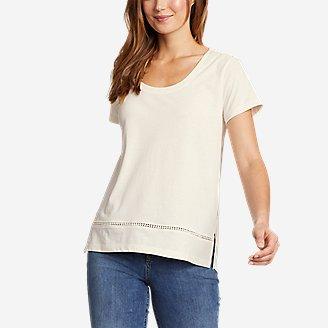Women's Myriad Short-Sleeve Ladder-Lace T-Shirt in White