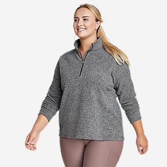Women's Quest Fleece 1/4-Zip - Solid in Gray
