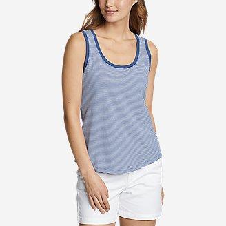 Women's Myriad Tank Top - Stripe in Blue