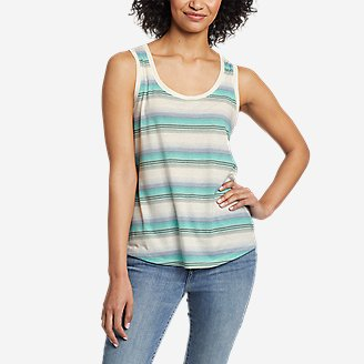 Women's Myriad Tank Top - Stripe in Blue