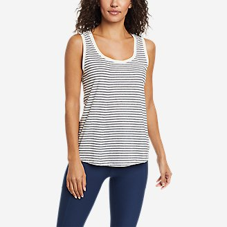 Women's Myriad Tank Top - Stripe in White