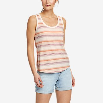 Women's Myriad Tank Top - Stripe in Orange