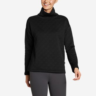 Women's Discovery Funnel-Neck Pullover in Black