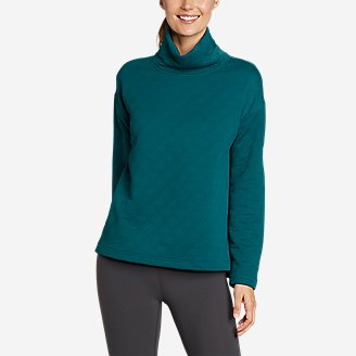 Women's Discovery Funnel-Neck Pullover in Blue