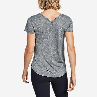 Women's Resolution Short-Sleeve Cross-Back T-Shirt in Gray