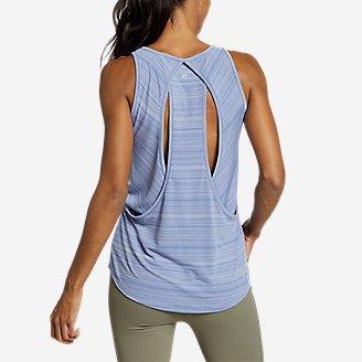 Women's Trail Light Draped-Back Tank Top in Blue
