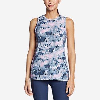 Women's Trail Breeze Petal-Back Tank Top in Blue