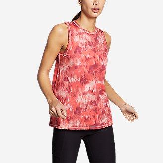 Women's Trail Breeze Petal-Back Tank Top in Red