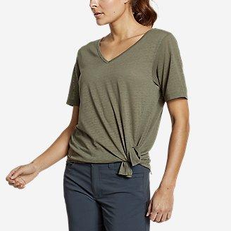 Women's Day Hiker Burnout Asymmetrical T-Shirt in Green