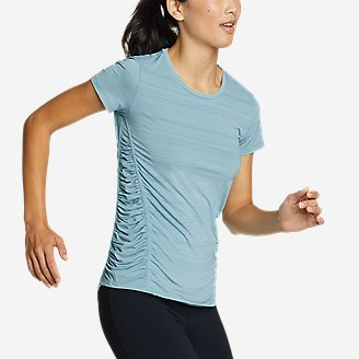 Women's Trail Light Short-Sleeve T-Shirt in Blue