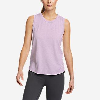 Women's Willpower Mesh-Inset Tank Top in Purple