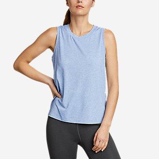 Women's Willpower Mesh-Inset Tank Top in Blue