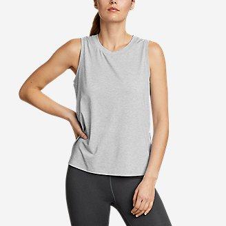 Women's Willpower Mesh-Inset Tank Top in Gray