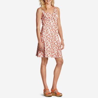 Women's Aster Crossover Dress - Solid in Pink