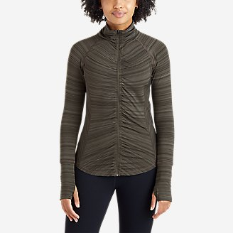 Women's Trail Light Ruched Full-Zip Jacket in Green
