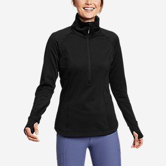 Women's High Route Grid Fleece 1/2-Zip in Black